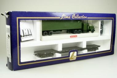 Lima 302852-1 US-Militär-Transport-Set Flachwagen Militär- Truck der DB NEU